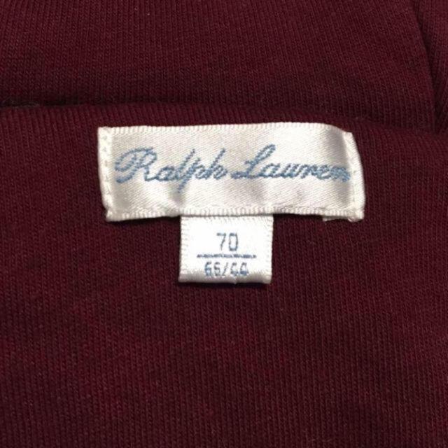 Ralph Lauren(ラルフローレン)の【極美品】ラルフローレン☆ジャンプスーツ☆70 キッズ/ベビー/マタニティのベビー服(~85cm)(カバーオール)の商品写真