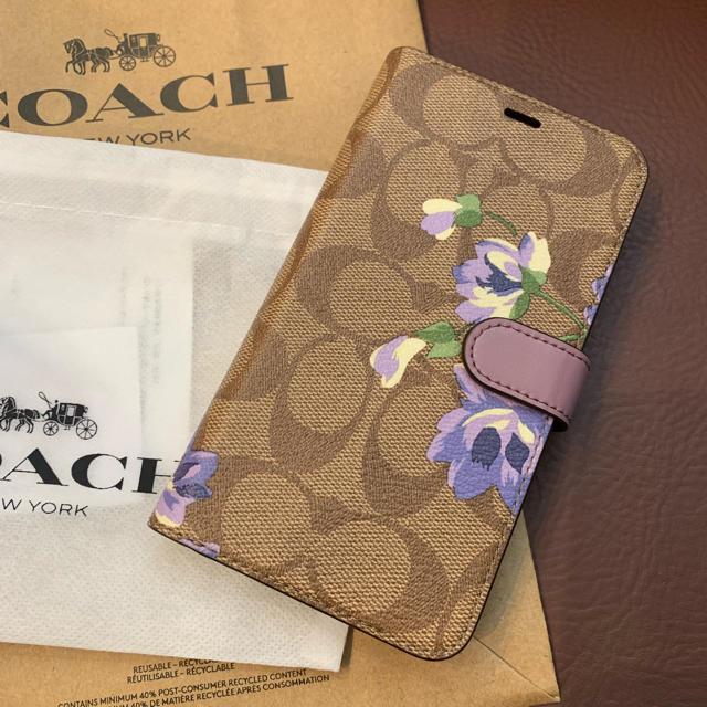 iphone8 ケース イブ サン ローラン 、 COACH - iPhone xr コーチ 手帳型ケースの通販 by きょん's shop|コーチならラクマ
