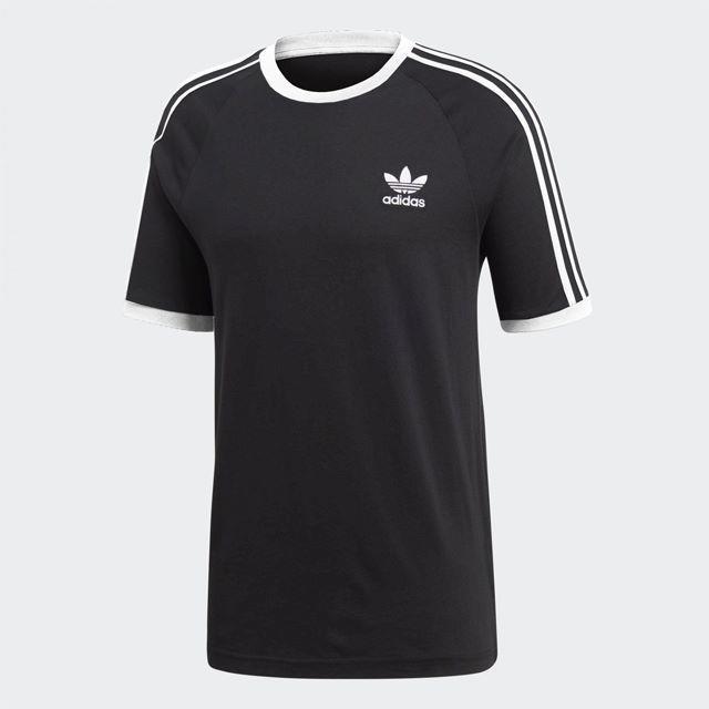 adidas(アディダス)のM【新品/即日発送OK】adidas オリジナルス Tシャツ 3ストライプ 黒 メンズのトップス(Tシャツ/カットソー(半袖/袖なし))の商品写真