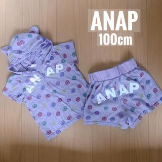 アナップキッズ(ANAP Kids)のused【ANAP セットアップ パジャマ 100】(パジャマ)