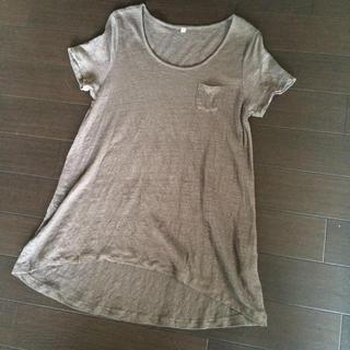 ムジルシリョウヒン(MUJI (無印良品))の無印良品✻麻無地Tシャツ(Tシャツ(半袖/袖なし))