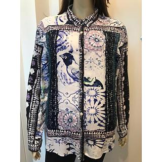 デシグアル(DESIGUAL)のDesigual 美品 XL 長袖シャツ デシグアル 小鳥(シャツ/ブラウス(長袖/七分))