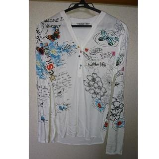 デシグアル(DESIGUAL)のdesigual 長袖 白 ホワイト 柄 XS(シャツ/ブラウス(長袖/七分))