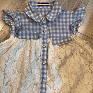 シマムラ(しまむら)の涼しげシャツ140(ブラウス)