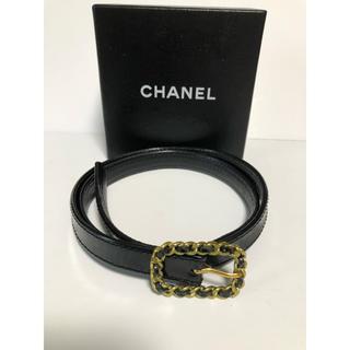 af4980706fd4 シャネル(CHANEL)のシャネル CHANEL ベルト ブラック ヴィンテージ チェーンバックル(ベルト)