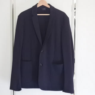 ジルサンダー(Jil Sander)のジルサンダー ジャケット ジャージ素材 ネイビー メンズ XL 中古 美品 正規(テーラードジャケット)