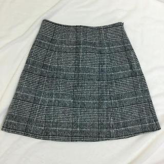 マーキュリーデュオ(MERCURYDUO)のチェック柄台形スカート(ミニスカート)