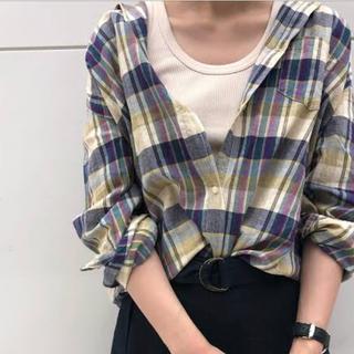 ニコアンド(niko and...)のリネンチェックシャツ(シャツ/ブラウス(長袖/七分))