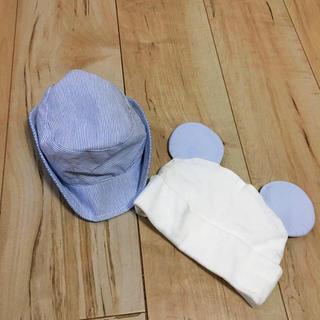 ユニクロ(UNIQLO)の送料込み 新品ベビー帽子 2点セット♡(帽子)