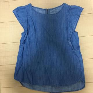 ジーユー(GU)のGU デニム トップス Sサイズ(シャツ/ブラウス(半袖/袖なし))
