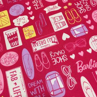 バービー(Barbie)のBarbie バービー ファッション ピンク 生地 ハンドメイド 素材 材料(生地/糸)