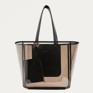 2c6c6c5dbf975 ザラ(ZARA)の完売品 ザラ クリアバッグ 透明 ショッピングバッグ トートバッグ ハンドバッグ