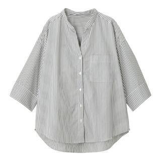 ジーユー(GU)のワイドスリーブシャツ(シャツ/ブラウス(半袖/袖なし))