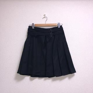 バーバリー(BURBERRY)のバーバリーロンドン 38 フレアスカート プリーツスカート ブラック 黒(ひざ丈スカート)