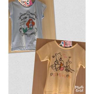 シマムラ(しまむら)のアリエル プーさん Tシャツ2枚セット 110(Tシャツ/カットソー)