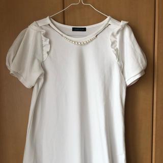 8387fdf56c743 アベイル(Avail)のバルーン袖 白ワンピース(ミニワンピース)