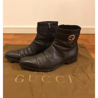 グッチ(Gucci)の【希少】定価9万 グッチ サイドゴア ブーツ 41.5 GUCCI(ブーツ)