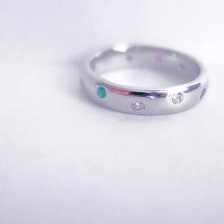 贅沢な4大貴石のフルリング♪(リング(指輪))