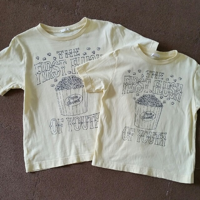 GU(ジーユー)のGU Tシャツ2枚セット キッズ/ベビー/マタニティのキッズ服 男の子用(90cm~)(Tシャツ/カットソー)の商品写真