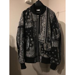 アンユーズド(UNUSED)のold park  バンダナフライトジャケット M ブラック 極美品(フライトジャケット)