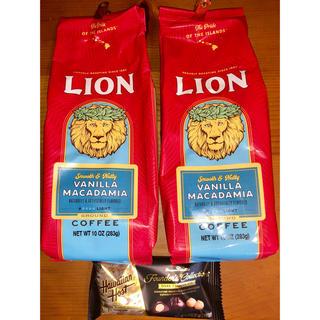 ライオン(LION)のライオンコーヒー 283g バニラマカダミアコーヒー2個セット(コーヒー)