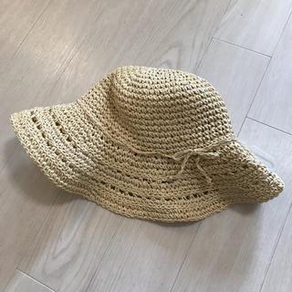 ベビーギャップ(babyGAP)のbabygap ラフィアハット タグ付き新品(麦わら帽子/ストローハット)