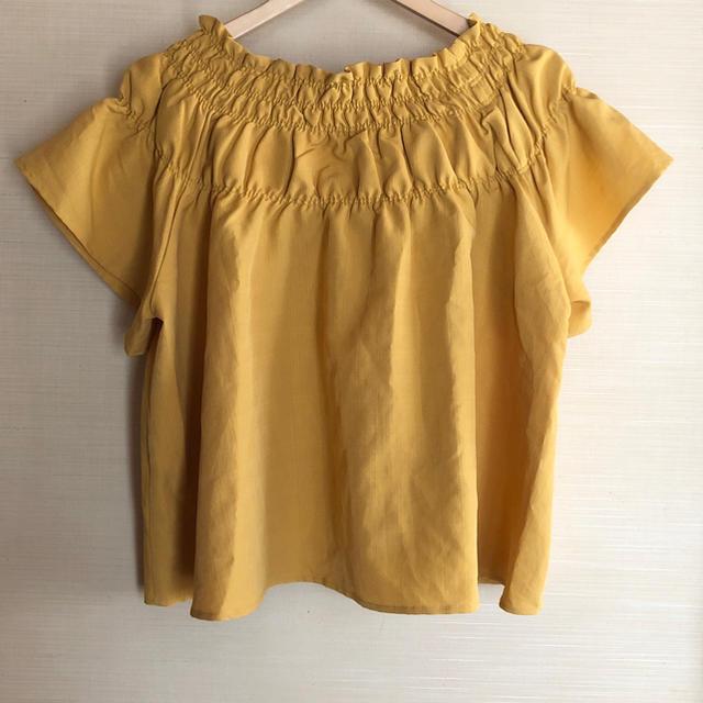 しまむら(シマムラ)のイエロー トップス レディースのトップス(カットソー(半袖/袖なし))の商品写真