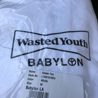 バビロン(BABYLONE)のwasted youth Babylon tee 白(Tシャツ/カットソー(半袖/袖なし))
