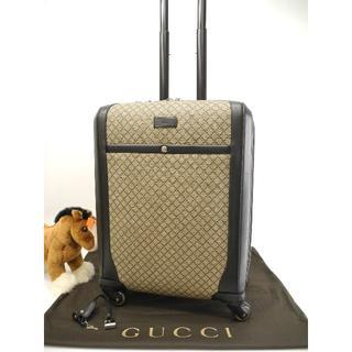 dbc2dbf2e9 グッチ(Gucci)のグッチ 4輪キャリーバッグ ディアマンテ グレー黒 旅行用四