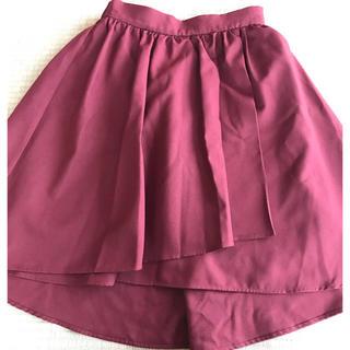 ティアンエクート(TIENS ecoute)のボルドーのスカート(ひざ丈スカート)