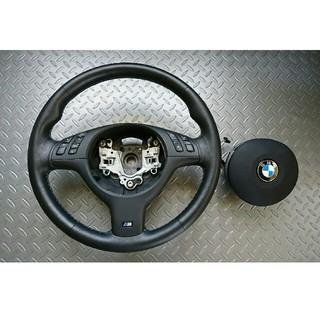 ビーエムダブリュー(BMW)のBMW E46 M3 純正ステアリング 美品(車種別パーツ)