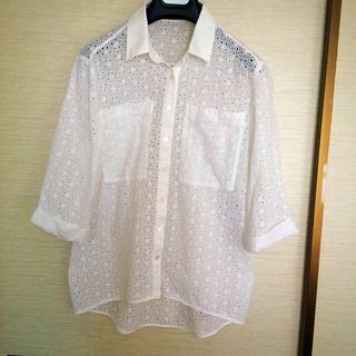 ジョゼフ(JOSEPH)のコットンレースのおしゃれシャツ(シャツ/ブラウス(長袖/七分))