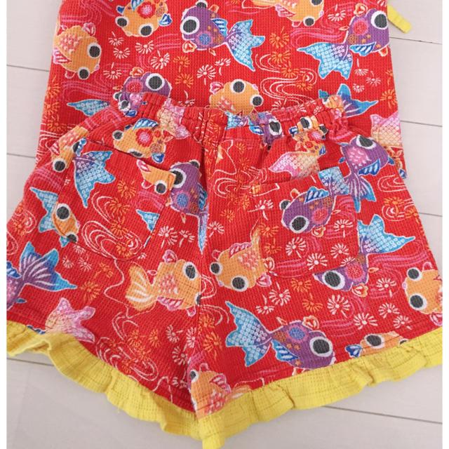 ampersand(アンパサンド)のアンパサンド✨可愛い♡金魚さん甚平 95 キッズ/ベビー/マタニティのキッズ服 女の子用(90cm~)(甚平/浴衣)の商品写真