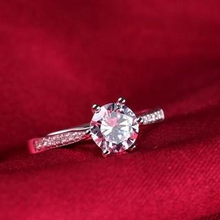 ※即日発送☞婚約指輪ギフト♥ジルコニア※金属アレ対応リング★指輪シルバー925(リング(指輪))