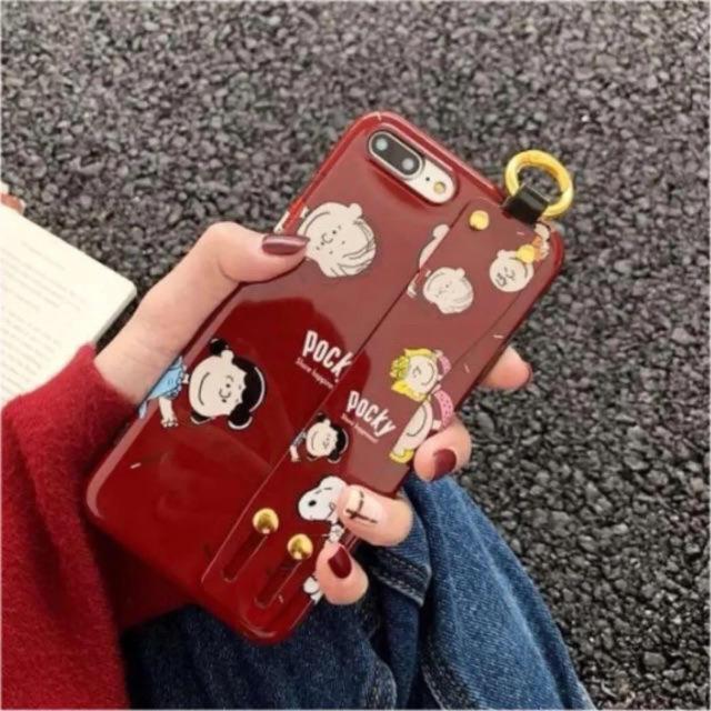 スマホ手帳型ケース - iPhone XRケース リストバンド付きの通販 by m's shop|ラクマ