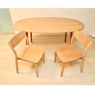 ムジルシリョウヒン(MUJI (無印良品))の無印良品(MUJI)REAL FURNITURE ダイニングテーブル&チェア(ダイニングテーブル)