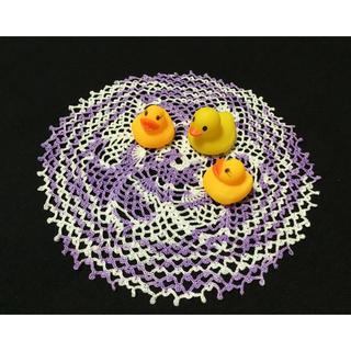 ✿レース編み(テーブルクロス)紫*5(インテリア雑貨)