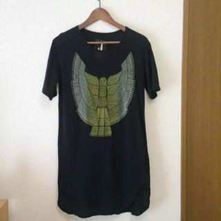 OKIRAKU ロング Tシャツ S オキラク
