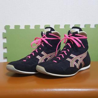asics - アシックス ボクシングシューズ 26cm 別注カラー ブラック/ゴールド/ピンク