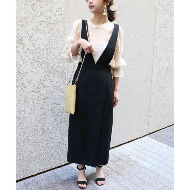 Noble(ノーブル)のnobleサロペットタイトスカート レディースのパンツ(サロペット/オーバーオール)の商品写真