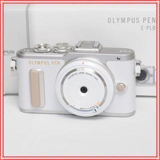 オリンパス(OLYMPUS)の激安特価♪✨新品✨オリンパス PEN E-PL8レンズset ✨ホワイト✨(ミラーレス一眼)