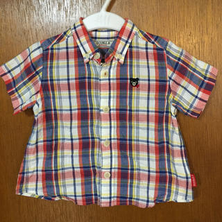 mikihouse - ダブルビー チェック シャツ 90サイズ