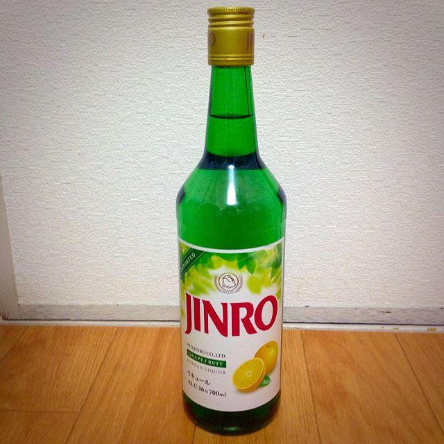 JINRO グレープフルーツ 食品/飲料/酒の酒(焼酎)の商品写真