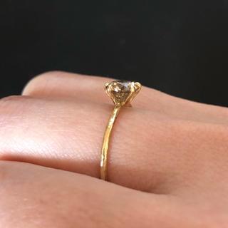 アッシュペーフランス(H.P.FRANCE)のnoguchi  ブラウンダイヤモンド リング(リング(指輪))