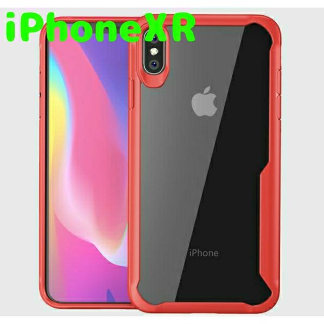 iphone7 ケース ハイブリッド 、 プロテクティブiPhoneケースXR【赤】の通販 by スマホケース&アクセshop|ラクマ