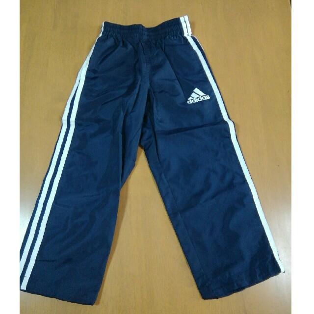 adidas(アディダス)のアディダス男子ジャージズボン(紺色) キッズ/ベビー/マタニティのキッズ服 男の子用(90cm~)(パンツ/スパッツ)の商品写真
