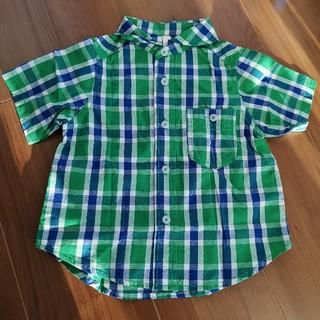 LAGOM - Lagom 半袖チェックシャツ 95㎝