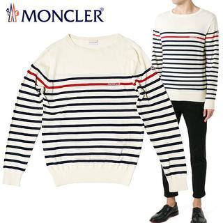 モンクレール(MONCLER)の【4】MONCLER 17SS アイボリー ボーダー サマーニット/セーター M(ニット/セーター)
