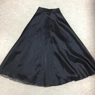 35b7b6f503690 エメ(AIMER)のnon prestage ノン・プレステージ 黒 オーガンジー ロングスカート(ロング