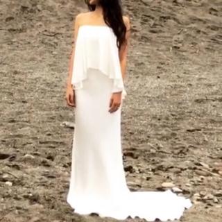 エイソス(asos)の【新品】asos エイソス フィッシュテールマキシドレス(ウェディングドレス)